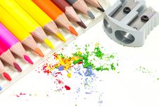 Free Pencils With A Sharpener Stock Images - 15660774