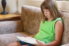 Free Young Girl Reading Stock Photo - 15661510