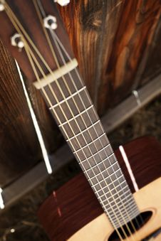 Free Acoustic Guitar Fret Board Stock Photography - 15661802