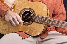 Guitar Strumming Stock Photos
