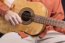 Free Guitar Strumming Stock Photos - 15662053