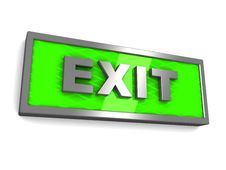 Free Exit Sign Stock Images - 15662514