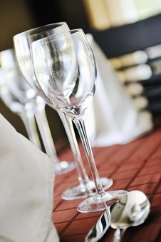Free Glasses In Restaurant Stock Photo - 15662910