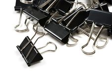 Free Black Fold Back Clips Stock Photography - 15662982