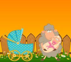 Free Cartoon Smiling Sheep Stock Photos - 15663493