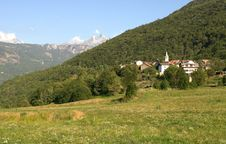 Free Village In The Alps Stock Image - 15663511