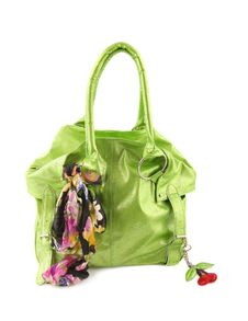 Green Women Bag Isolated With Path Royalty Free Stock Images