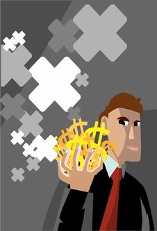 Free The Man Holding Money Stock Photos - 15663723