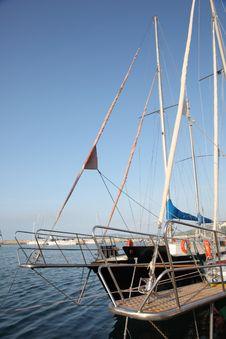 Boats At Black Sea Harbor Stock Photography