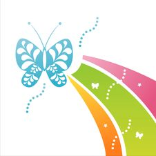 Free Butterfly Background Royalty Free Stock Images - 15664089