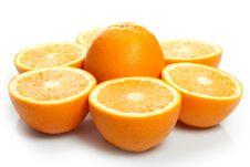 Orange Halves Royalty Free Stock Photography