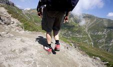 Free Man Trekking In Mountains Stock Photo - 15664480
