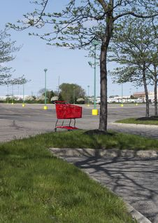 Abandoned Shopping Cart Royalty Free Stock Photo