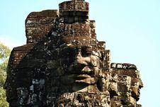 Free The Bayon,Angkor,Cambodia Stock Image - 15665741