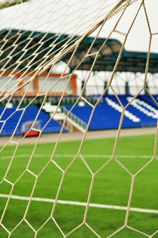 Free Football Goal, Net, Close-up Royalty Free Stock Photo - 15665785