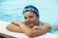 Free Girl In The Swimming Pool Royalty Free Stock Photography - 15666227