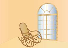 Rocking Chair And Window Royalty Free Stock Images