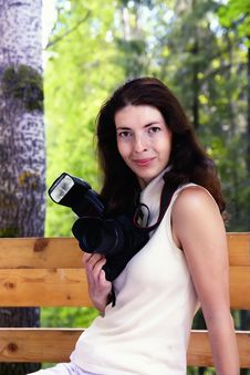 Free Girl Photographer Stock Photography - 15666832
