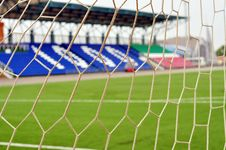 Free Football Net, Close-up Royalty Free Stock Images - 15666949