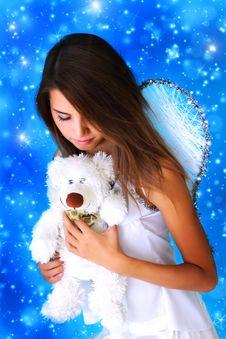 Free Girl Holding A Teddy Bear Royalty Free Stock Photos - 15666978