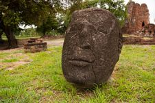 Free Stone Buddha Head Stock Photography - 15667172