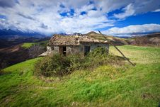 Lone House In Italy Stock Photos