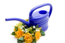 Free Blue Watering Can Stock Photo - 15668450