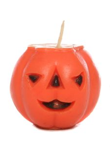 Free Halloween Pumpkin Candle Stock Photo - 15668650