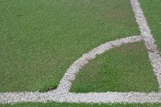Fake Grass Football Fields Royalty Free Stock Photo
