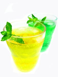 Free Green And Yellow Lemonade Stock Image - 15669291