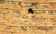 Stones And Briks Wall Royalty Free Stock Image