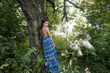 Free Young Woman Near Tree Stock Images - 15669474