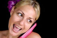 Free Girl Talking On The Phone Royalty Free Stock Photos - 15669478