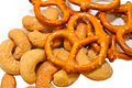 Free Pretzels And Cashew Nuts Stock Photos - 15672183
