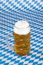Free Oktoberfest Beer Stein On Bavarian Flag Stock Image - 15676851