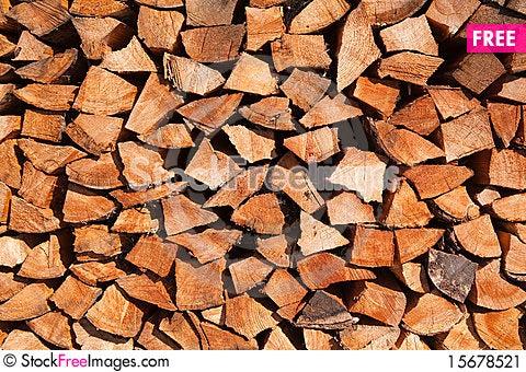 Free Firewood Background Stock Image - 15678521