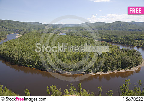 Free Curving River Stock Photography - 15678522