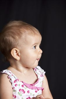 Free Baby Girl With Tongue Royalty Free Stock Photography - 15670417