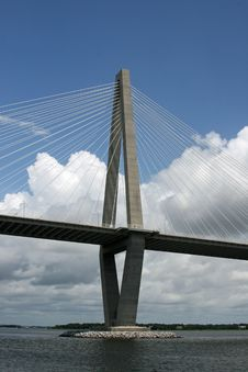 Free Arthur Ravenel Jr. Bridge / Cooper River Bridge Stock Photography - 15670692