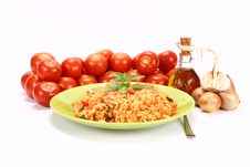 Risotto With Tomatoes Royalty Free Stock Photos