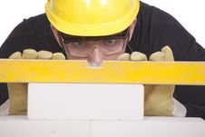 Free Construction Worker With Level Stock Photo - 15671500