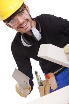 Free Professional Bricklayer Royalty Free Stock Photo - 15671515