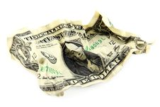 Free Crumpled One American Dollar Royalty Free Stock Images - 15671519