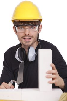 Free Construction Worker With Brick Stock Images - 15671524