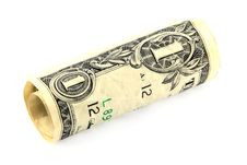 Free Rolled Dollar Bill Royalty Free Stock Photography - 15671547