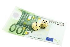 Free Two Dices And 100 Euro Royalty Free Stock Image - 15671646