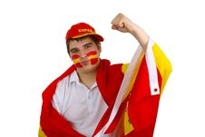 Free Spanish Soccer Fan Stock Images - 15671694