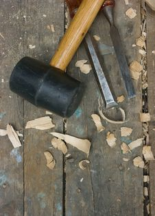 Free Wood Carving Tools Royalty Free Stock Photo - 15673105