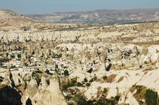 Free Town In Cappadocia, Cliffs Around It Royalty Free Stock Image - 15674316
