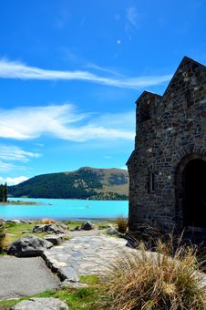 Free Lake Tekapo And The Church Of Good Shepard. Stock Photography - 15675052